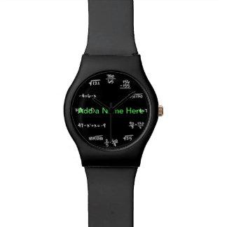 数学の黒板の腕時計-時間の同等化を解決して下さい ウオッチ