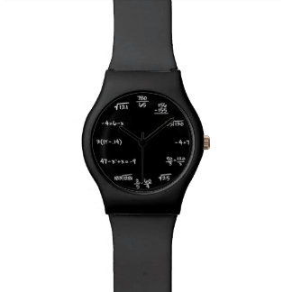 数学の黒板の腕時計-時間の同等化を解決して下さい 腕時計