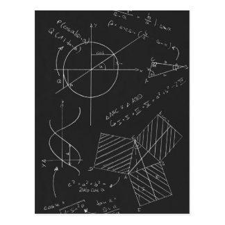 数学の黒板 ポストカード