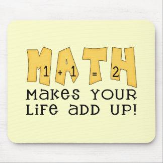 数学はあなたの生命にTシャツおよびギフトを集計させます マウスパッド