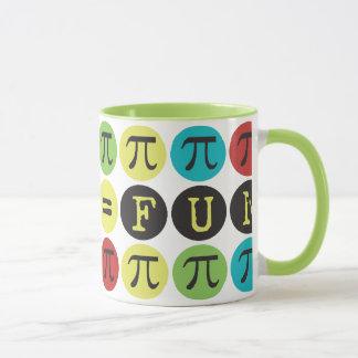 数学はおもしろい-カラフルでモダンなPi -におもしろいなPiのギフト匹敵します マグカップ