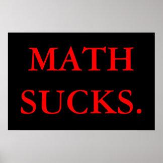 数学は吸います ポスター