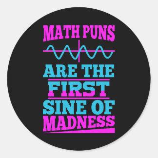数学は正弦狂気のもじります! 先生の冗談のステッカー ラウンドシール