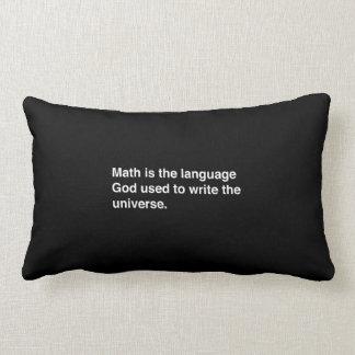 数学は神の言語です ランバークッション