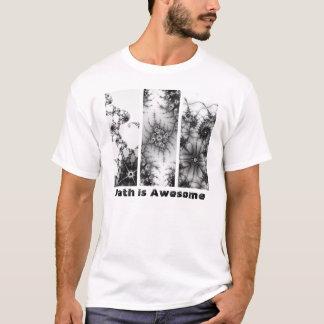 数学は素晴らしい第1フラクタルデザインです Tシャツ