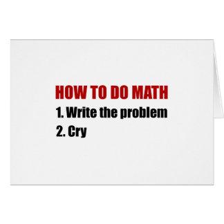 数学をする方法 カード