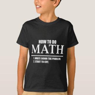 数学をする方法 Tシャツ