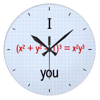 数学愛方式 ラージ壁時計