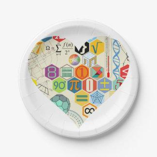数学愛紙皿 ペーパープレート