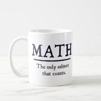 数学数える唯一の主題 コーヒーマグカップ