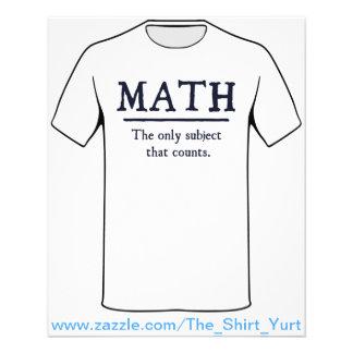 数学数える唯一の主題 チラシ