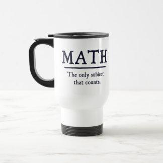 数学数える唯一の主題 トラベルマグ