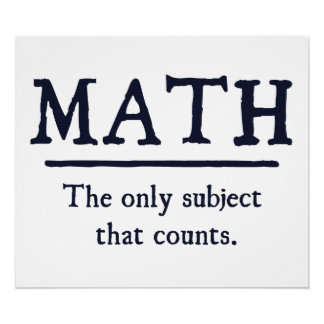 数学数える唯一の主題 ポスター