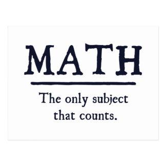 数学数える唯一の主題 ポストカード