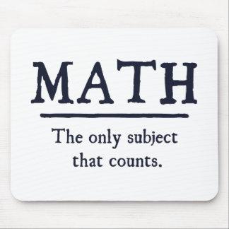 数学数える唯一の主題 マウスパッド