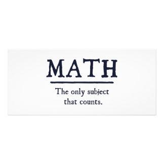 数学数える唯一の主題 ラックカード