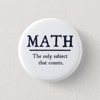 数学数える唯一の主題 3.2CM 丸型バッジ