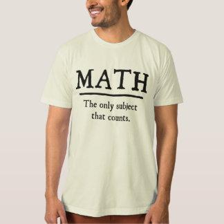 数学数える唯一の主題 Tシャツ