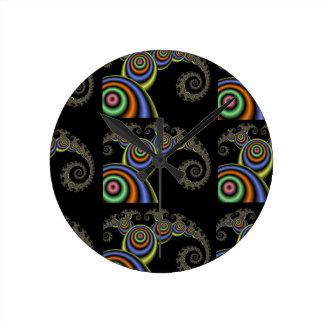 数学波の時計 ラウンド壁時計