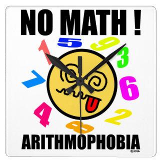 数学無し! Arithmophobia スクエア壁時計