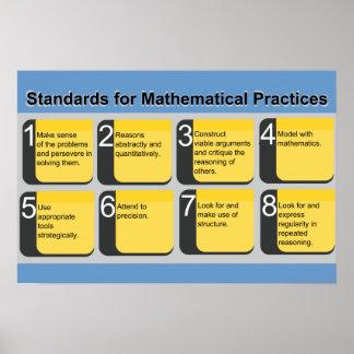 数学練習ポスターのための標準 ポスター