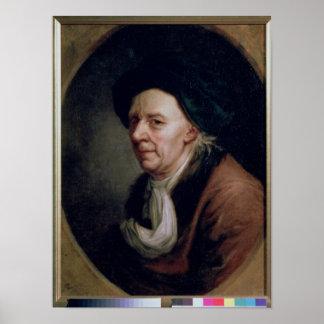 数学者のレオナルドEulerポートレート ポスター
