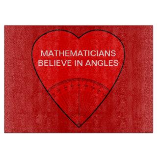 数学者は角度で信じます カッティングボード