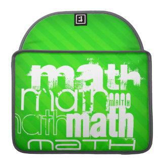 数学; ネオン緑のストライプ MacBook PROスリーブ