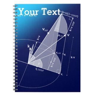 数学、三角法のスタイル ノートブック