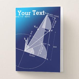 数学、三角法のスタイル ポケットフォルダー
