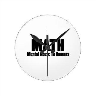 数学。 人間への精神乱用 ラウンド壁時計
