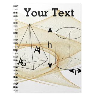 数学、幾何学のスタイル ノートブック