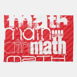 数学; 深紅の赤のストライプ キッチンタオル