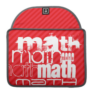 数学; 深紅の赤のストライプ MacBook PROスリーブ