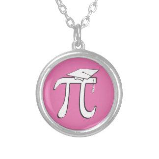 数学Piのピンクの卒業生 シルバープレートネックレス