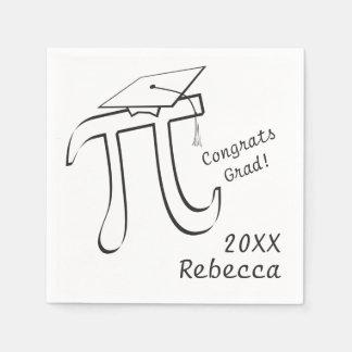 数学Piの卒業をカスタマイズ スタンダードカクテルナプキン