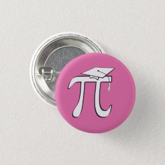 数学Piの卒業生-ピンクおよび白 3.2cm 丸型バッジ