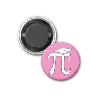 数学Piの大学院のピンク マグネット