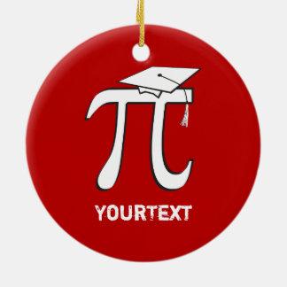 数学Piを卒業させます2味方されたおもしろいな卒業生をカスタマイズ セラミックオーナメント