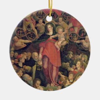 数珠のマドンナ、c.1569 (キャンバスの油) セラミックオーナメント