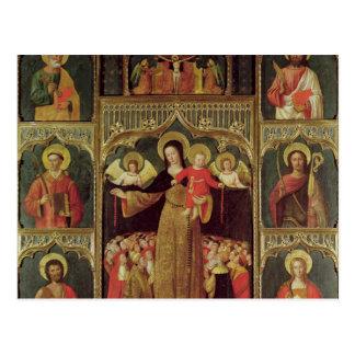 数珠のヴァージンの祭壇の背後の飾り、c.1500 ポストカード