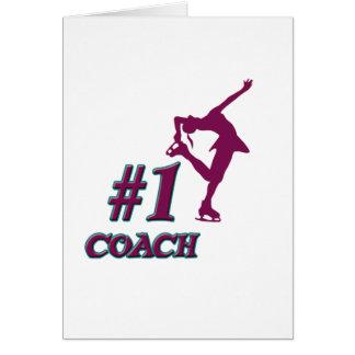 数#1コーチ グリーティングカード