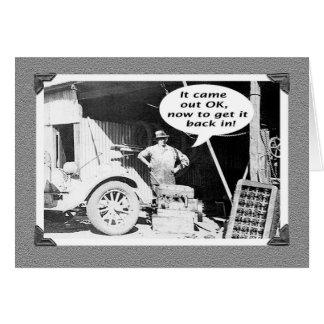 整備士の研修会、ヴィンテージ、古い車および整備士 カード
