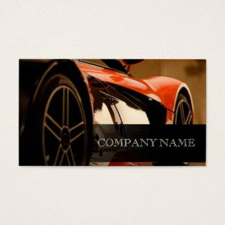 整備士の車ので黒い名刺のテンプレート 名刺