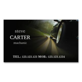整備士車のな車の黒の車輪カード マグネット名刺