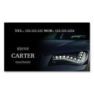 整備士車のな車の黒ライトカード マグネット名刺