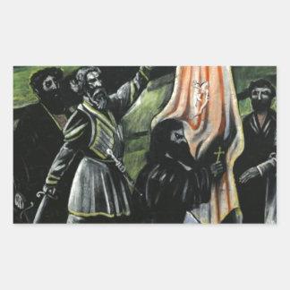敵からのジョージアを守るGiorgi Saakadze 長方形シール
