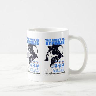 敵は梅毒です コーヒーマグカップ