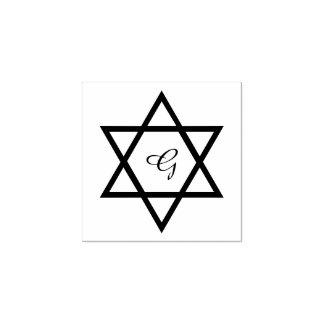 文体的な星のカスタムのイニシャルのゴム印 ラバースタンプ