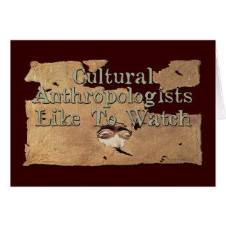 文化的な人類学者は見るのを好みます カード
